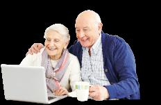 happy aged couple