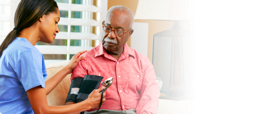 aged man checked his blood pressure